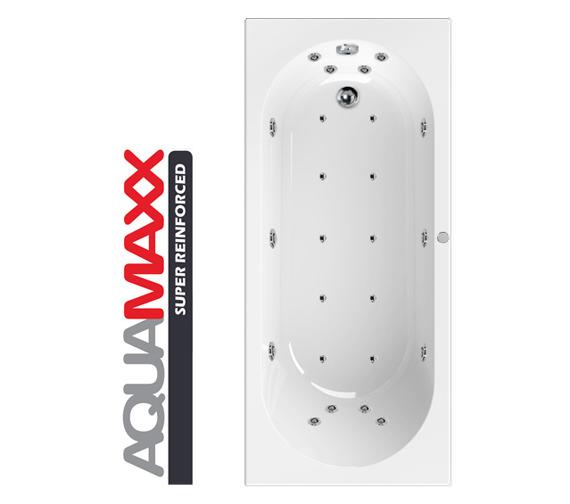 Aquaestil Hudson Aquamaxx 1700 x 700mm 24 Jets Whirlpool Bath