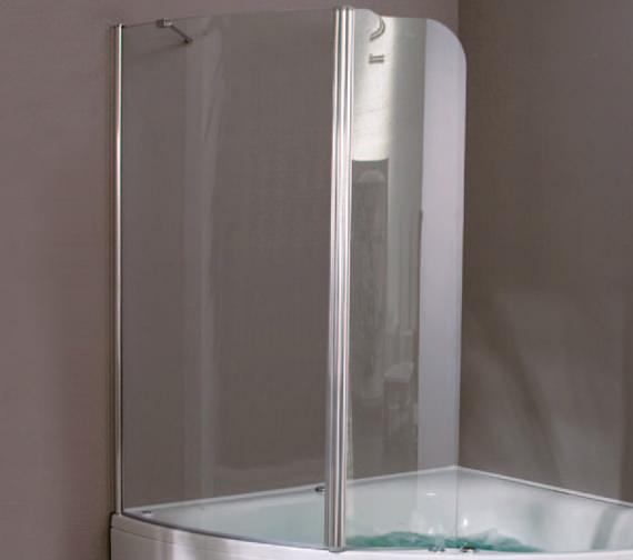 Aquaestil Gemma 1500mm Right Handed Shower Screen - 154GEMMA1500RH