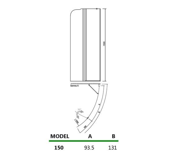 Technical drawing QS-V14265 / 154GEMMA1500RH