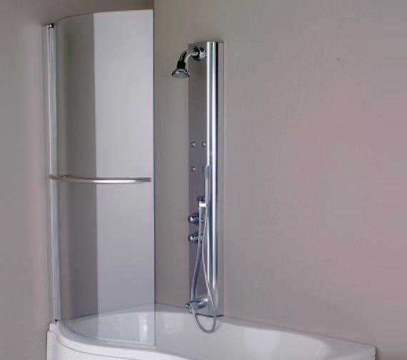 Aquaestil Parma 1500mm Left Handed Shower Screen - 154IRISSCRLH