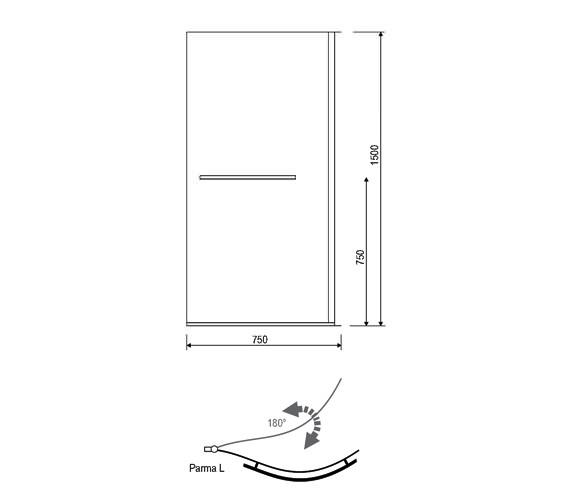 Technical drawing QS-V14266 / 154IRISSCRLH