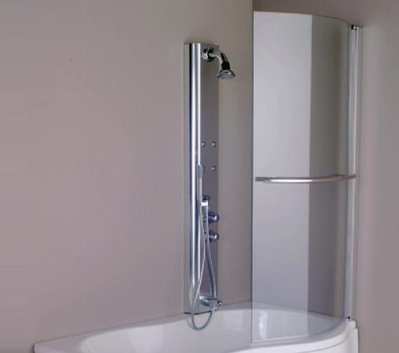 Aquaestil Parma 1500mm Right Handed Shower Screen - 154IRISSCRRH