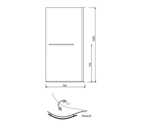 Technical drawing QS-V14267 / 154IRISSCRRH