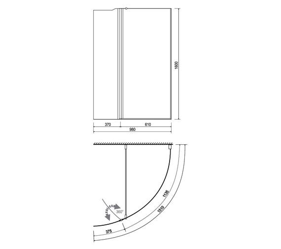 Technical drawing QS-V14268 / 154OLBIALH
