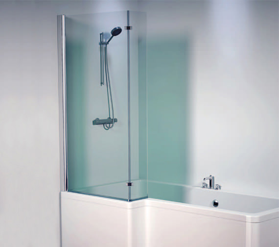 Aquaestil Thames 1500mm Left Shower Screen - 154THAMESSCLH