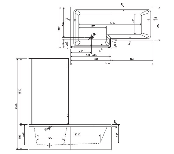 Technical drawing QS-V14270 / 154THAMESSCLH
