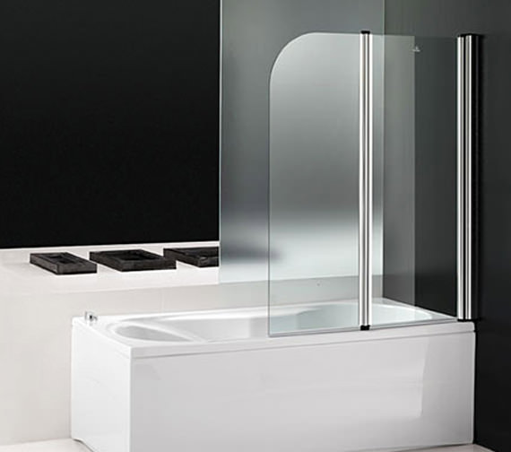 Aquaestil Titan II 1400mm Double Folding Shower Screen - 154TITAN2