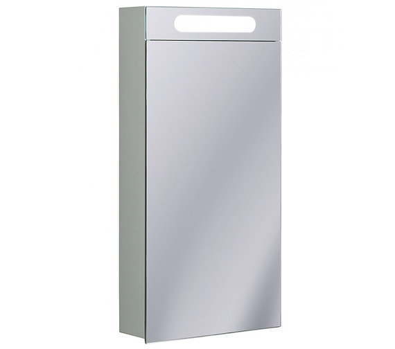 Bauhaus Aluminium 400 x 800mm Single Door Mirrored Cabinet