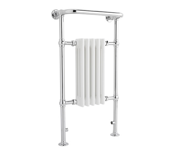Hudson Reed Small Harrow 540 x 965mm Chrome Traditional Heated Towel Rail
