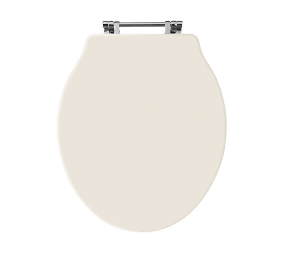 Old London Chancery Ivory Bottom Fix Wooden Toilet Seat NLS398