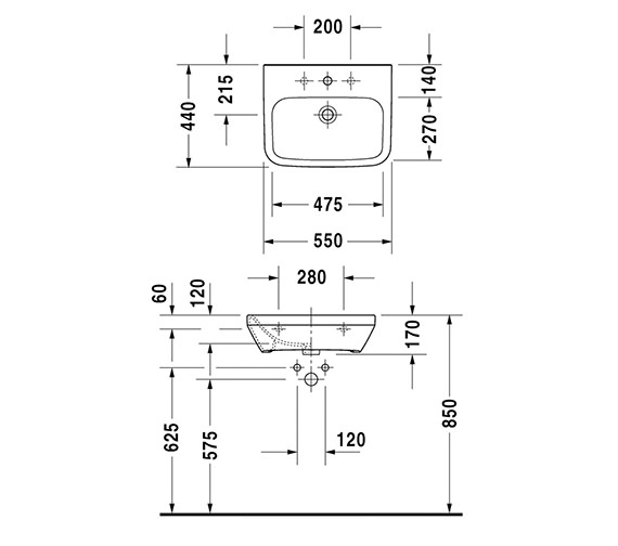 Technical drawing QS-V14480 / 2324550000