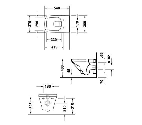 Technical drawing QS-V14485 / 2551090000