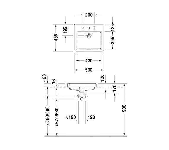 Technical drawing QS-V14488 / 0315500000