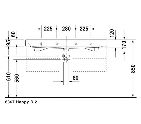 Additional image for QS-V14499 Duravit - 2318120000
