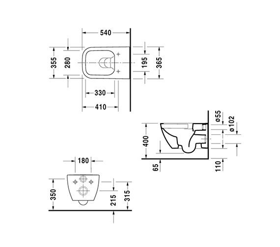 Technical drawing QS-V14503 / 2222090000