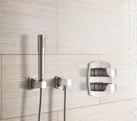 Additional image of Grohe Grandera Stick Single Spray Shower Wall Holder Set