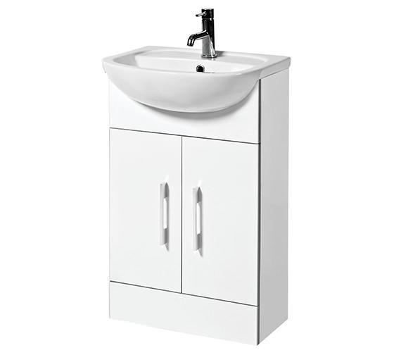 phoenix cara 500mm gloss white vanity unit and basin fc50f. Black Bedroom Furniture Sets. Home Design Ideas