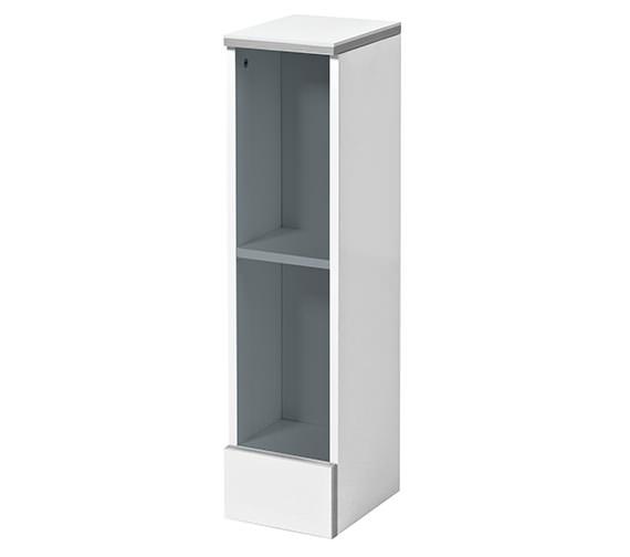 Phoenix cara 200mm open shelf unit gloss white fc20f for 200mm kitchen wall unit