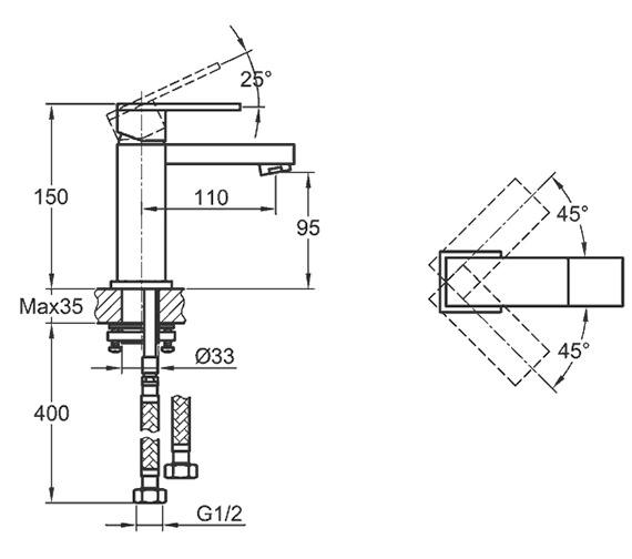 Technical drawing QS-V15173 / BQBAS