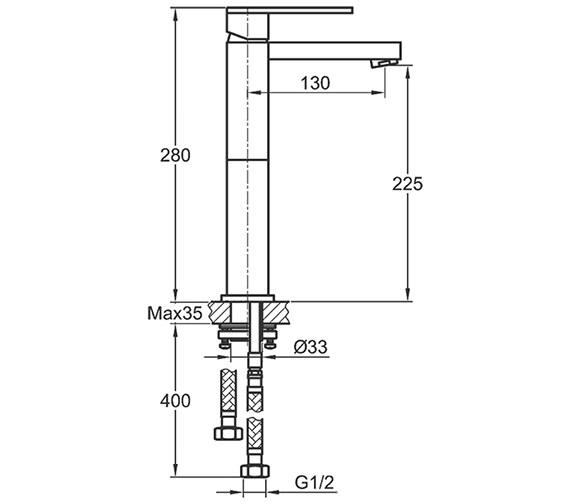 Technical drawing QS-V15174 / BQSBAS