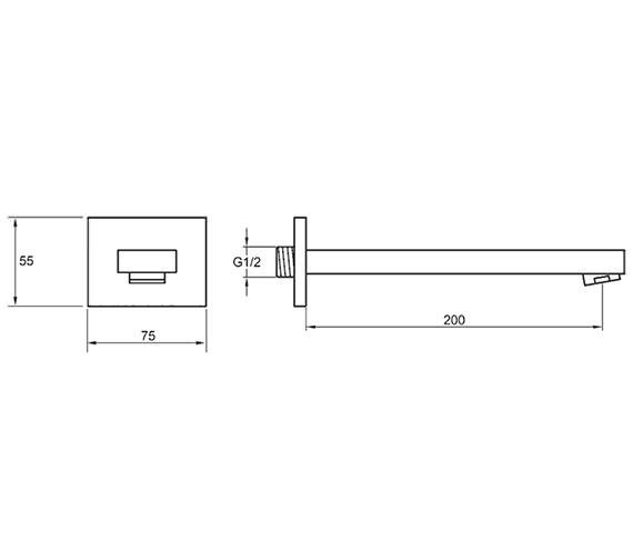Technical drawing QS-V15184 / BQBFSPOUT