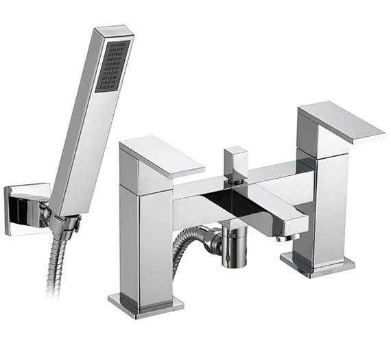 Pura Bloque Bath-Shower Mixer Tap With Handset And Hose - BQBSM