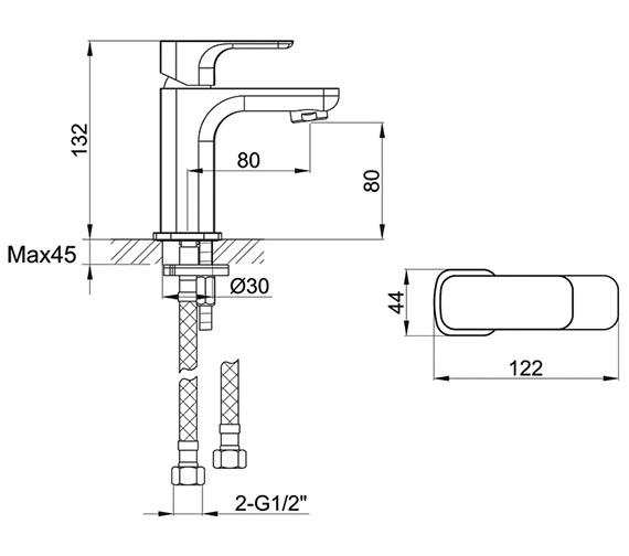 Technical drawing QS-V15189 / FLSBAS