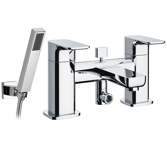 Pura Flite Bath-Shower Mixer Tap With Handset And Hose - FLBSM