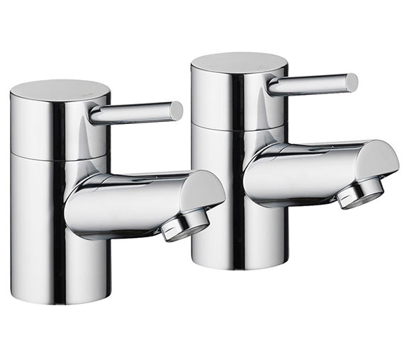 Pura Xcite Pair Of Basin Pillar Taps - XC12