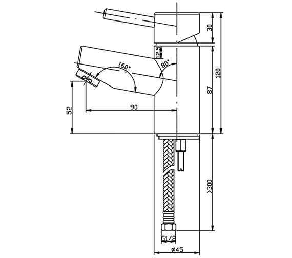 Technical drawing QS-V15202 / XCSBAS