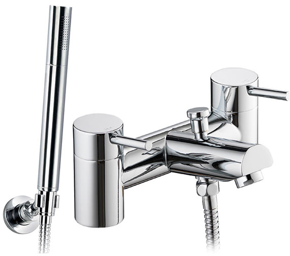 Pura Xcite Bath-Shower Mixer Tap With Handset And Hose - XCBSM