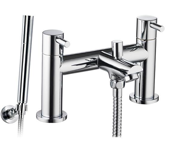 Pura Ivo Bath-Shower Mixer Tap With Handset And Hose - IVBSM