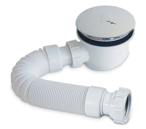 Pura 90mm Fastflow Shower Waste And Flexipipe Connector - PBSTW