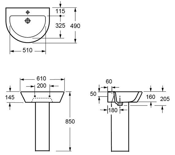 Technical drawing QS-V15276 / L1088