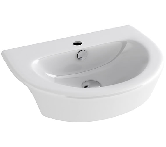 Pura Arco 550mm Semi Countertop Basin With 1 Tap Hole - LS1088