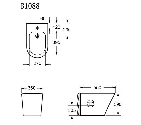 Technical drawing QS-V15279 / B1088