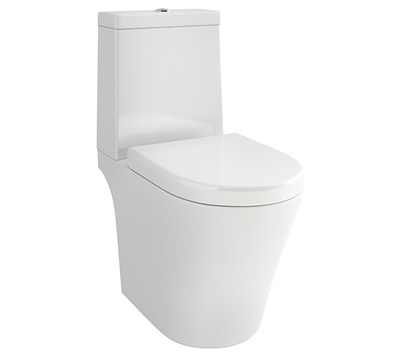 Pura Arco Open-Back Close Coupled WC Bowl With Cistern And Seat 660mm