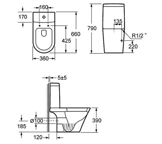 Technical drawing QS-V15280 / C1088C