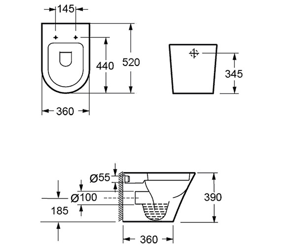 Technical drawing QS-V15282 / CB1088