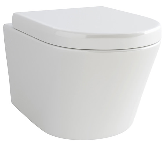 IMEX Arco Wall Hung WC Bowl And Soft Close Seat 520mm