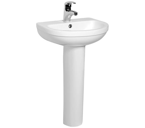 IMEX Ivo 500mm Compact 1 Tap Hole Basin And Full Pedestal