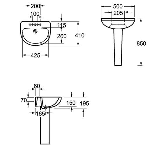 Technical drawing QS-V15288 / L1076C1