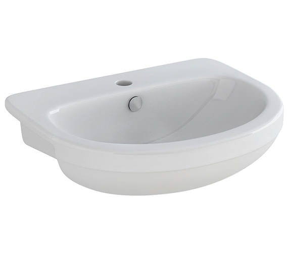 Pura Ivo 550mm 1 Tap Hole Semi Countertop Basin - LS1076