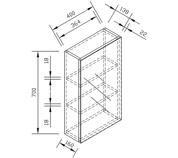 Technical drawing QS-V15321 / ECSDMC40WG
