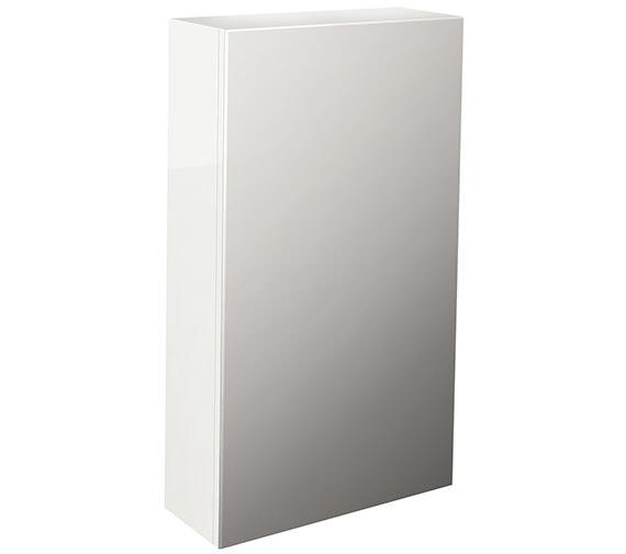 Pura Echo Single Door Mirror Cabinet 400mm