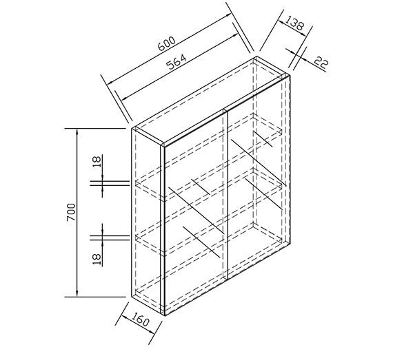 Technical drawing QS-V15324 / ECDDMC60WG