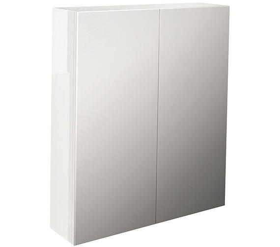 Pura Echo Double Door Mirror Cabinet 800mm White Gloss