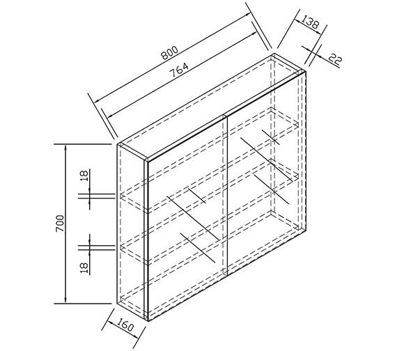 Technical drawing QS-V15327 / ECDDMC80WG