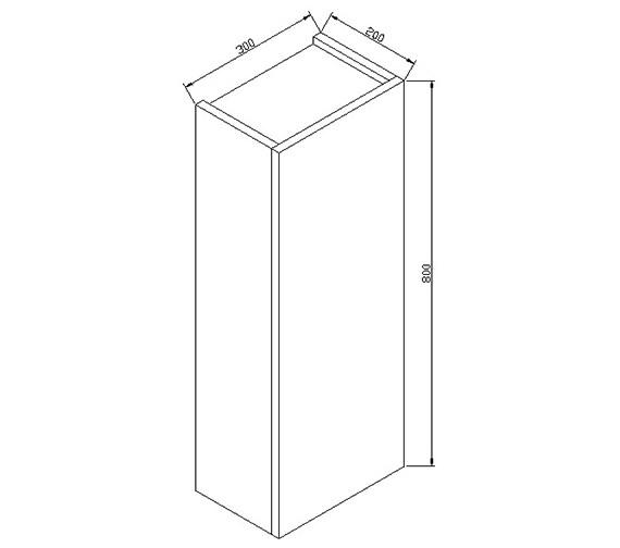 Technical drawing QS-V15330 / ECSSU80WG