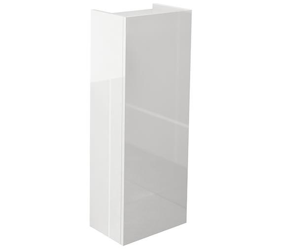 IMEX Echo 300 x 800mm Single Door Short Storage Unit White Gloss